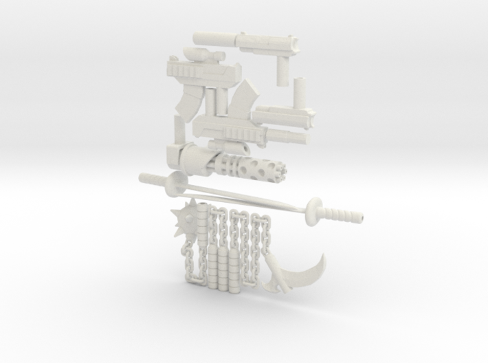 8 inch Dunny All Weapons 3d printed