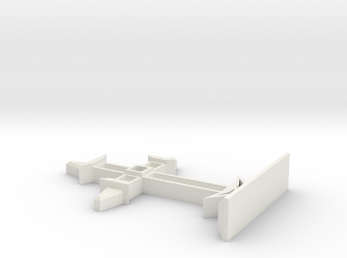 Medieval Cross on Stand Display Piece LARGE 3d printed