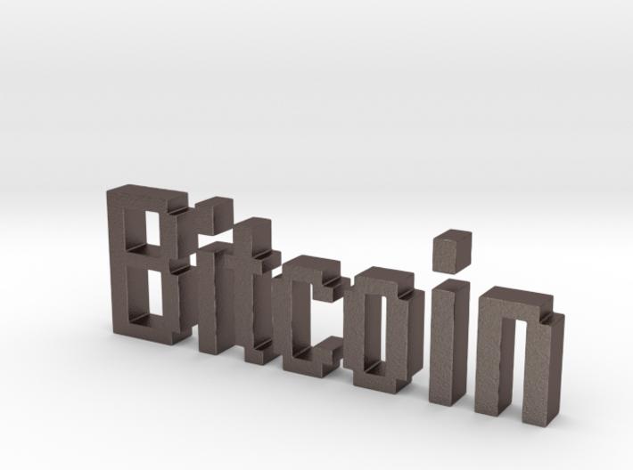Bitcoin 3D 3d printed
