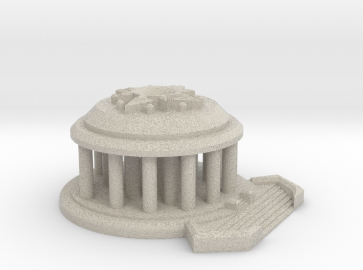 Temple of the Sun Display Piece Small 3d printed