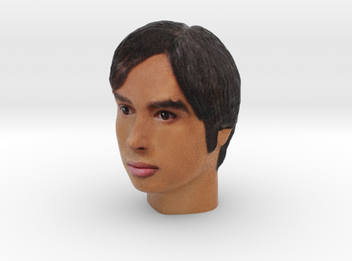 1/6 scale color Raj from The Big Bang Theory 3d printed