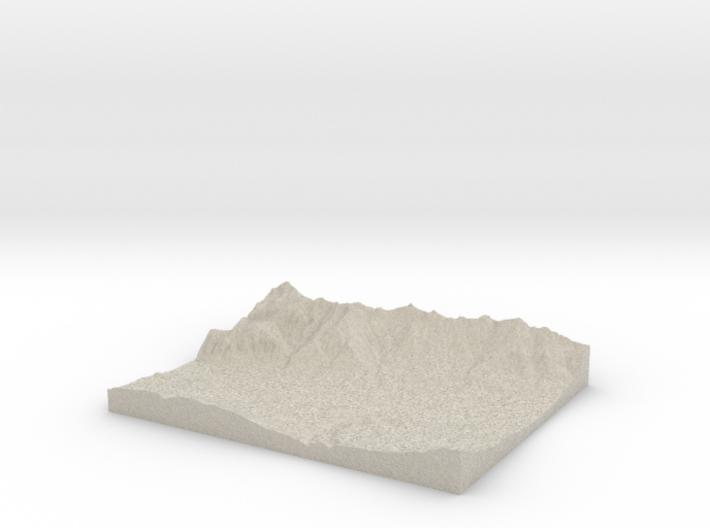 Model of Hötting 3d printed