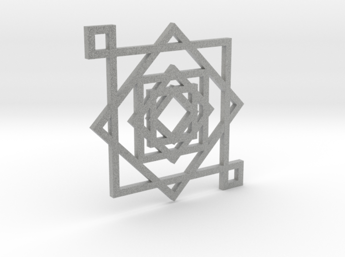 Illusionary Square Pendant 3d printed