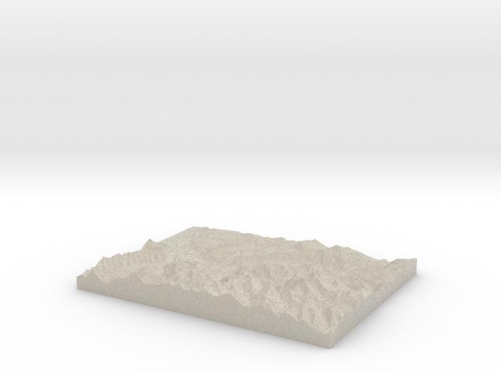 Model of Gündlischwand 3d printed