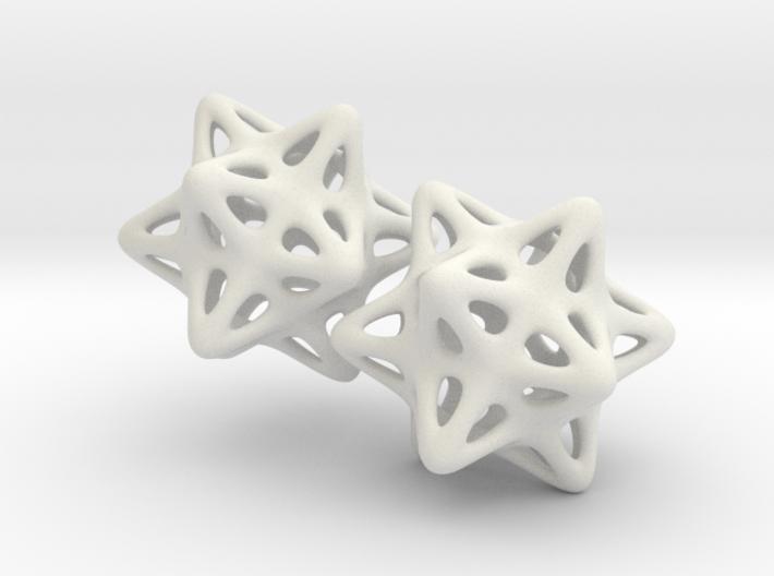 Soft Star Earrings 3d printed