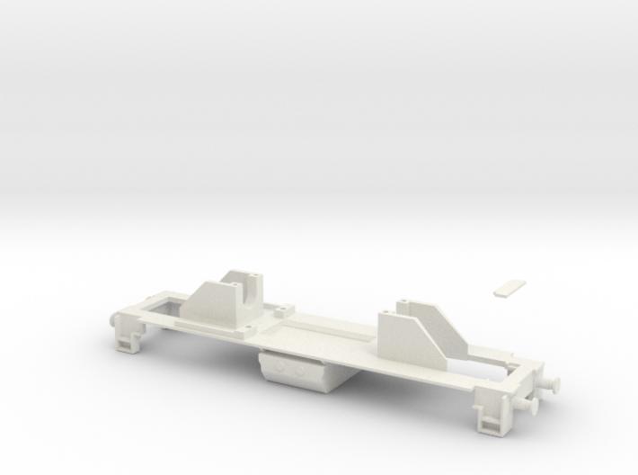 Dv12 alusta (H0) / Dv12-frame (H0) 3d printed