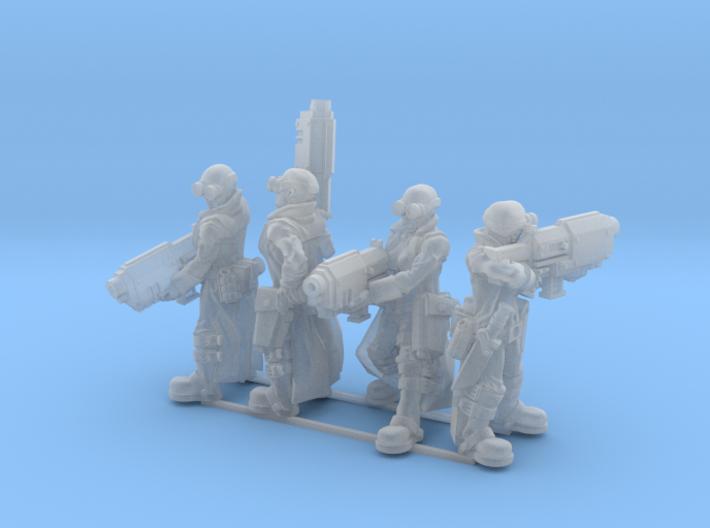 Female Stealth Gang with Slug Rifles 3d printed