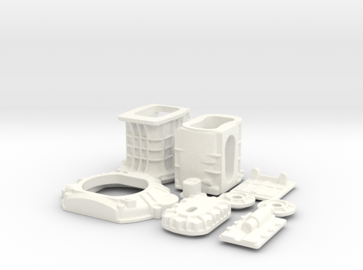 1/12 T-44 Transaxle With Ford 427 SO Bellhousing 3d printed