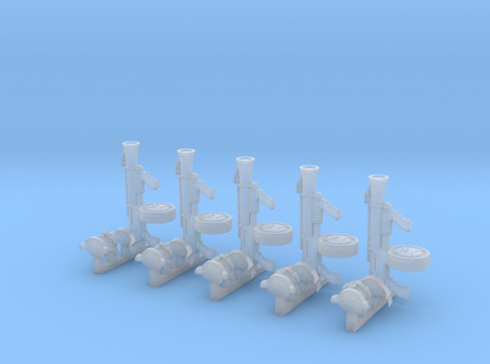 Angry Marine Upgrade Sprue 1 (x5) 3d printed