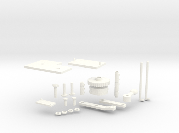 1:6 Scale Huey Centre Console Assembly Parts 3d printed
