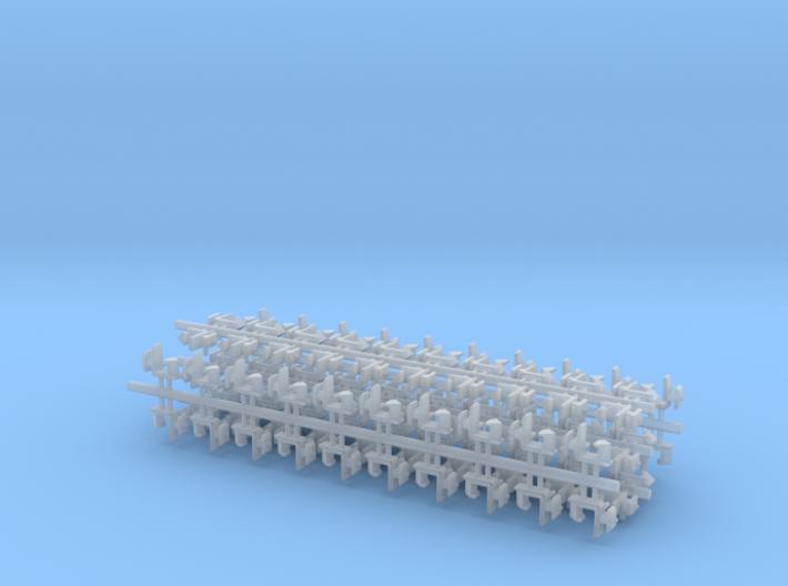 100 Rapido coupler 1.25mm shaft N Gauge 011213 3d printed