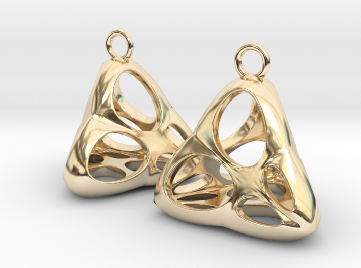 Irene Earrings (silver) 3d printed
