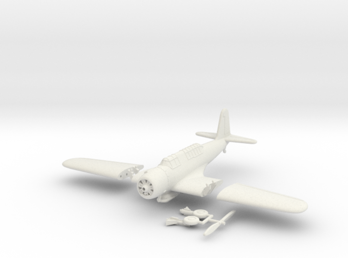 1/144 Vought SB2U Vindicator (folding wings) 3d printed