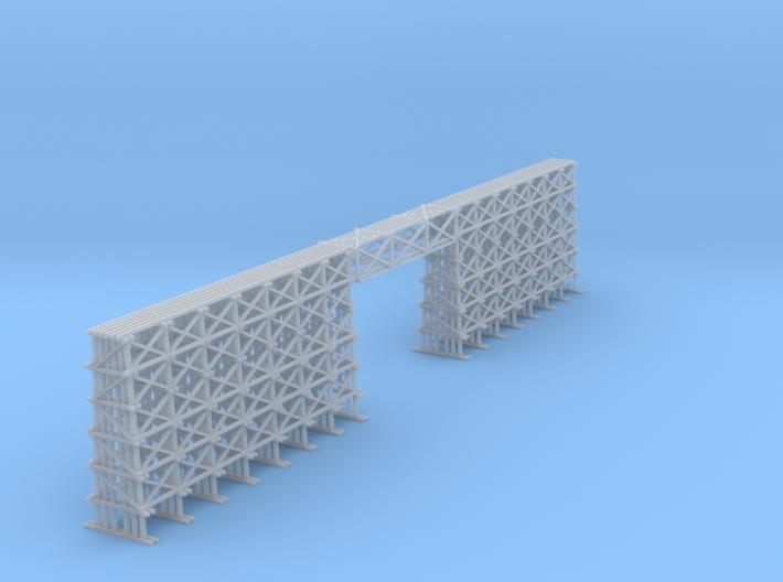 Wood Trestle Bridge 190 Ft 3d printed