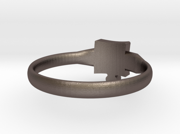 Autism Puzzle Piece Ring - Size 7 3d printed