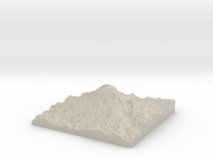 Model of Tahoma Glacier 3d printed