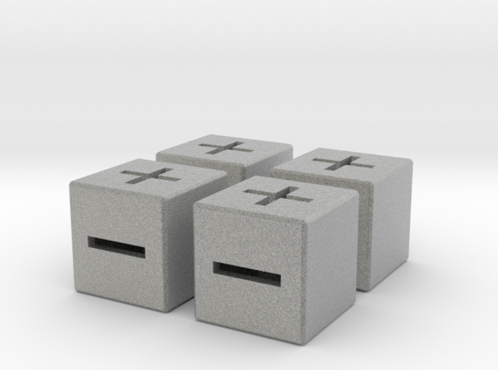 4 x 16mm Fate Dice with Med Walls 3d printed