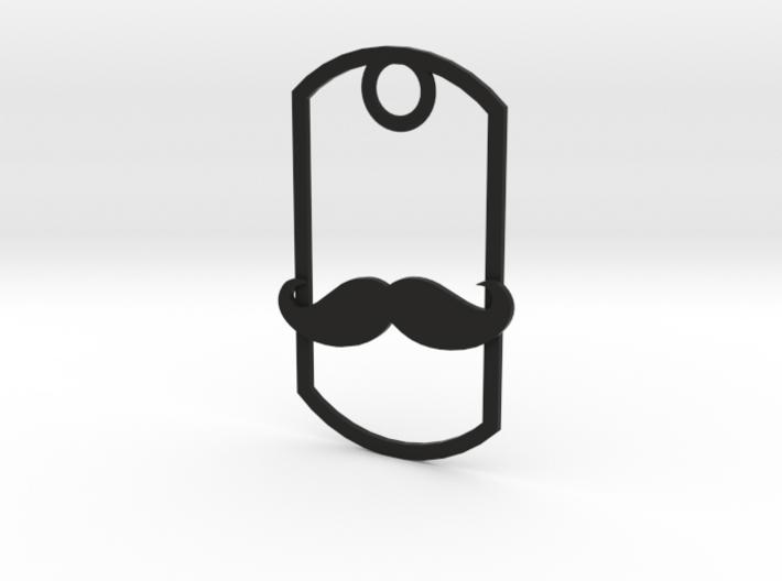 Movember dog tag 3d printed