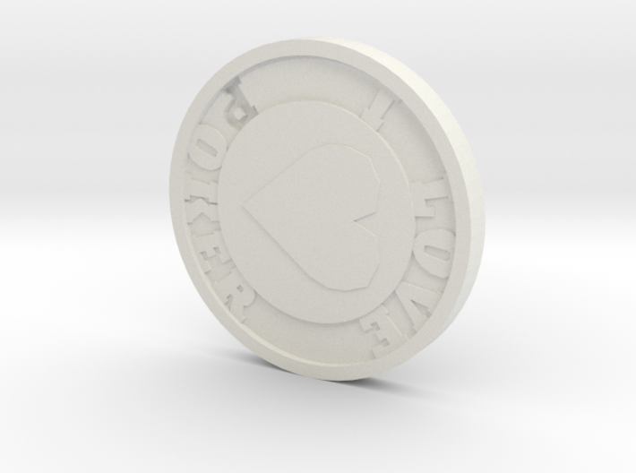 Poker chip 3d printed