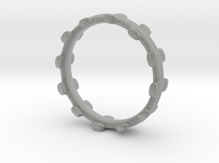 Liquid Metal Stackable Ring 3d printed