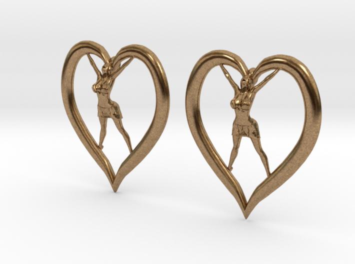 Joyful In Heart Earrings (wearing skirt) 3d printed