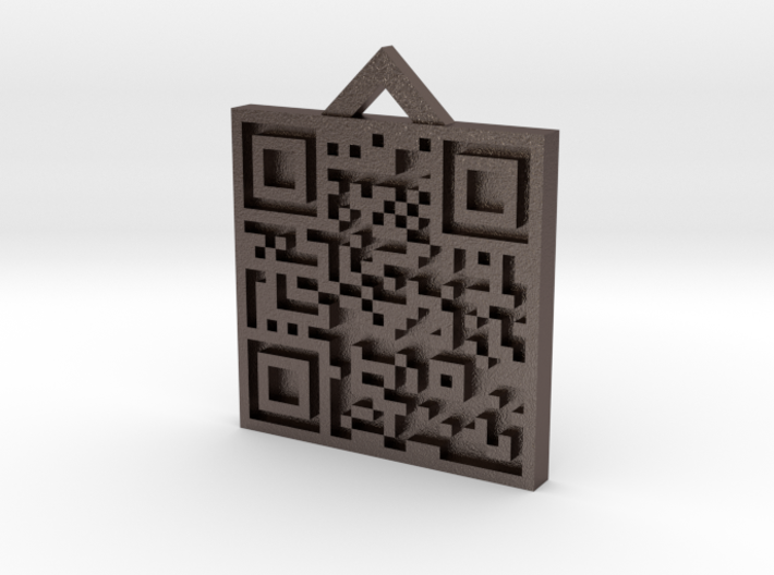 QRCode -- http://www.theoldergamers.com 3d printed