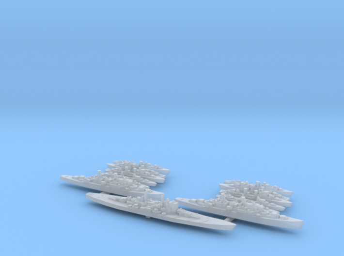 British Fleet 1/6000 3d printed