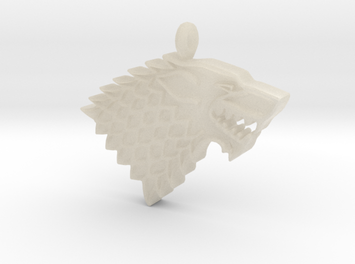 Game of Thrones Stark Direwolf 3d printed