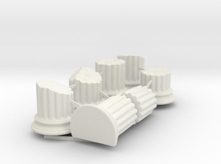 Broken Columns 3d printed