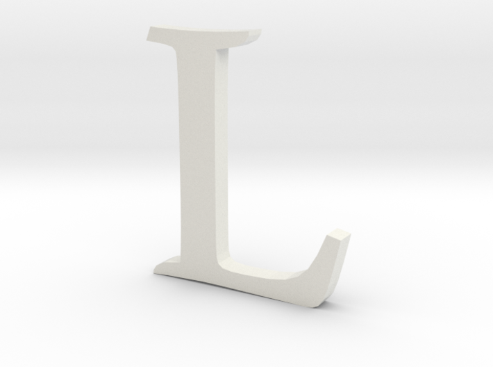 L (letters series) 3d printed