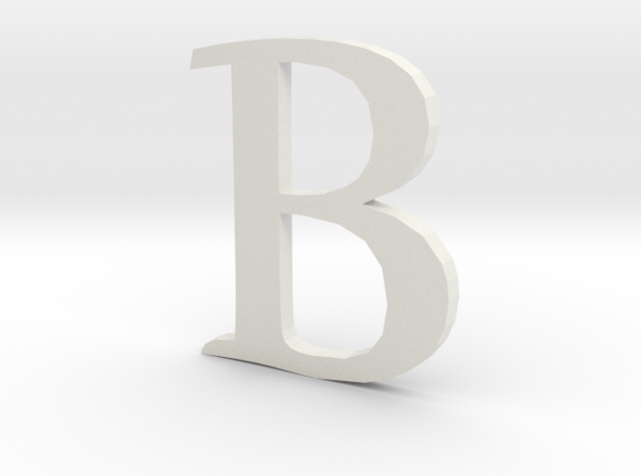 B (letters series) 3d printed