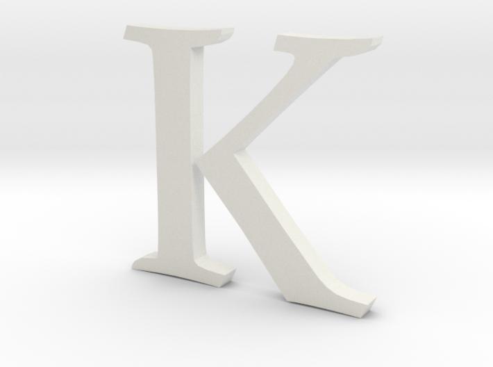 K (letters series) 3d printed