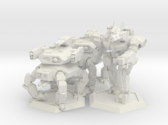 WHAM- Fusion Era Battle Pack A (1/285th) 3d printed