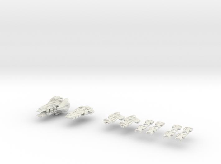 Imperal Fleet 3d printed