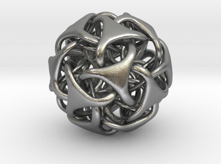 Icosa Medio - solid - Pendant 25mm 3d printed