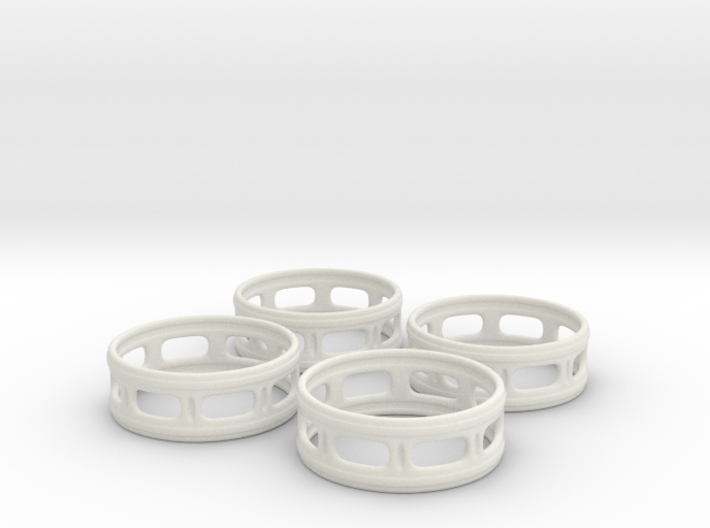 Windowed Napkin Rings (4) 3d printed