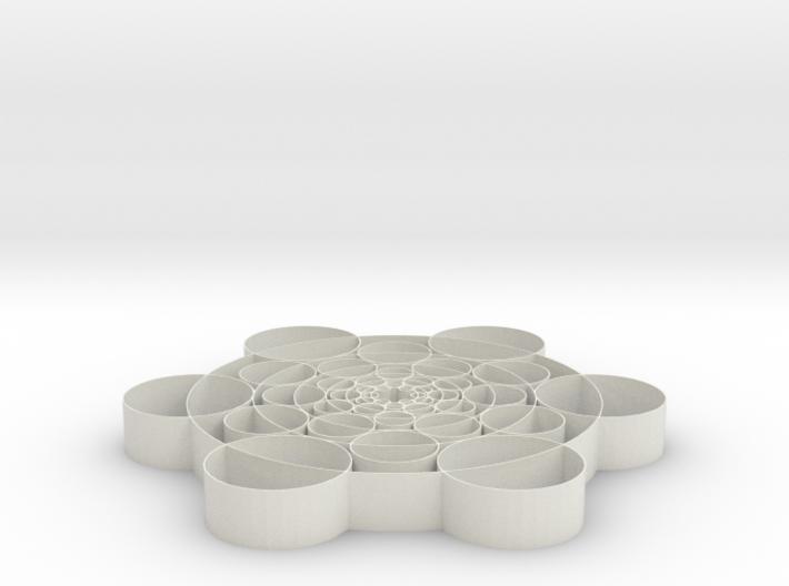 Phi Circles - 2 inch 3d printed