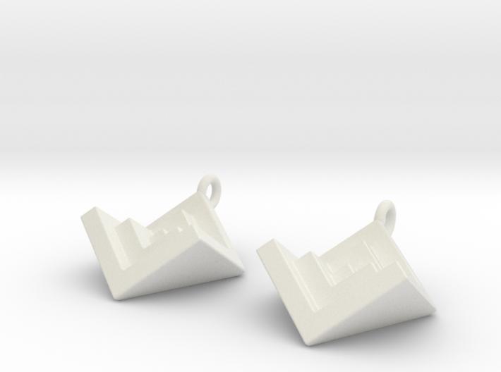 NestedCube Earring 3d printed