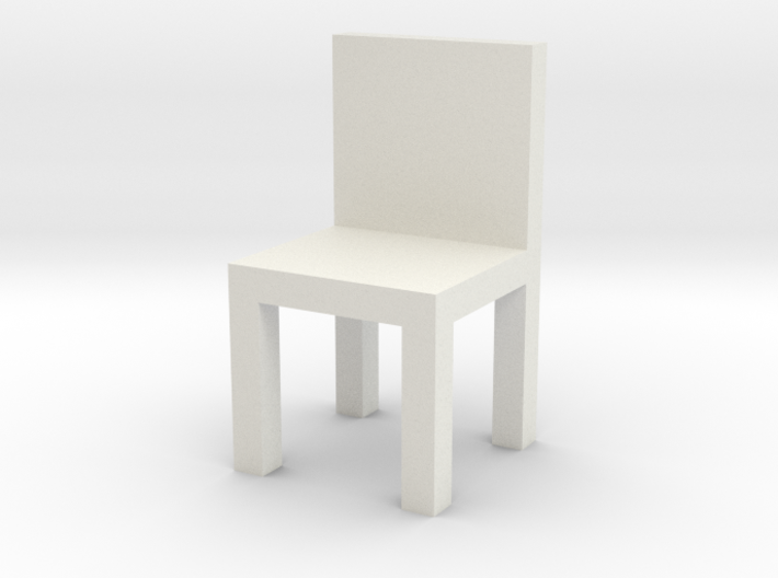 HO Scale Chair 3d printed