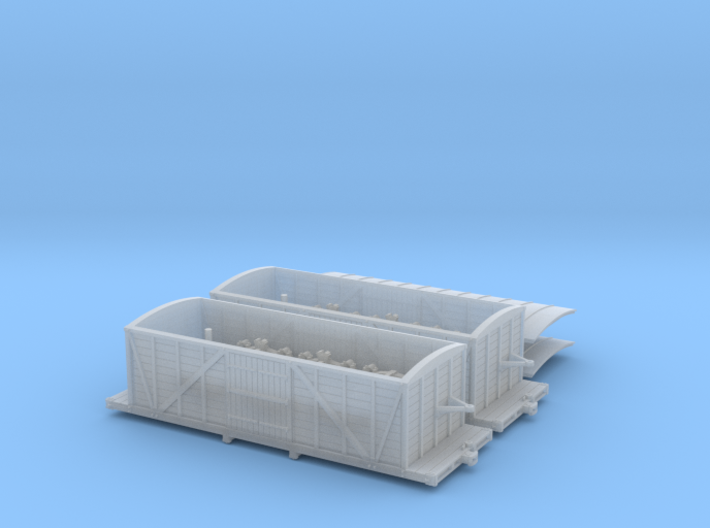 R33 x2 N scale St. Petersburg Moscow boxcar 1847 3d printed