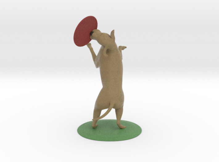 """Labrador and frisbie 3 1/2"""" tall 3d printed"""