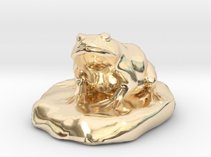 Bull Frog Statue 3d printed