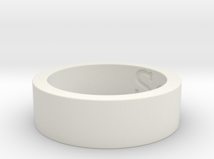 """""""Sea"""" Stainless Steel Ring Ring Size 8 3d printed Cape Cod Sea Ring"""