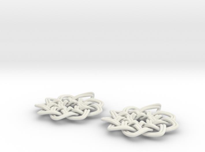 Woven Earrings 3d printed