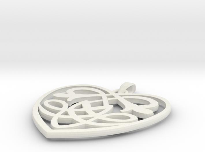 Celtic Heart Pendant 3d printed