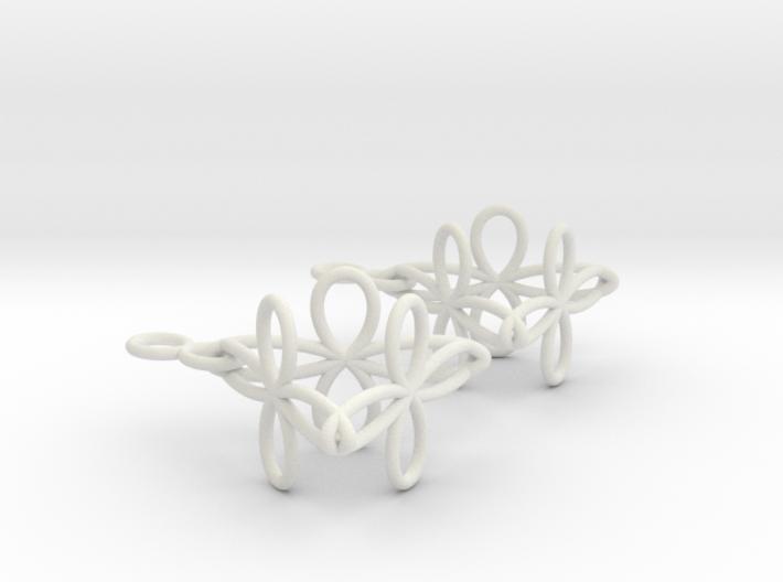 Conchoid Earrings 3d printed