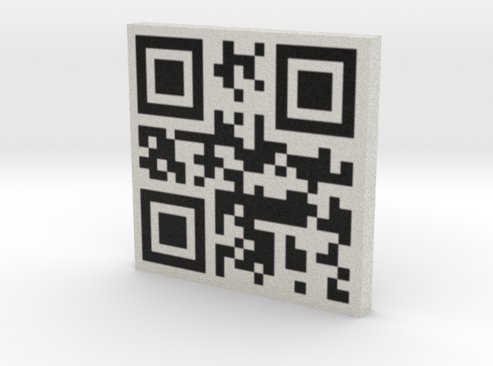 QRCode -- my name is taco 3d printed