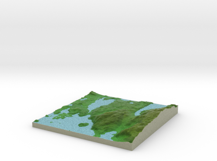 Terrafab generated model Sat Oct 05 2013 11:58:51 3d printed