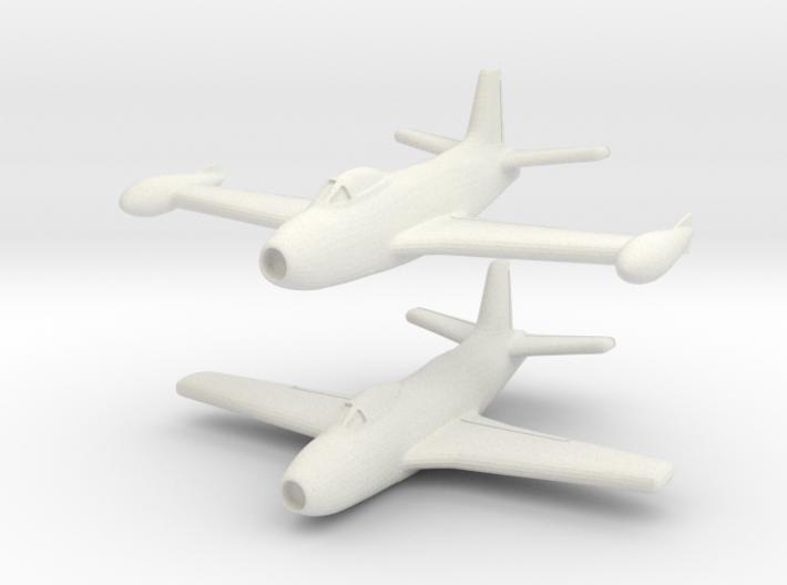 North American Aviation FJ-1 Fury (Pair) 1/285 6mm 3d printed