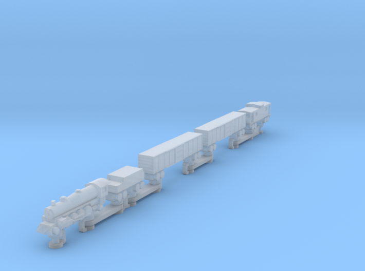 Steam Train (one piece, track not included) 3d printed